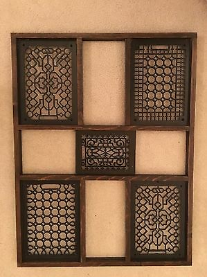 Antique Victorian Large Floor Cold Air Furnace Cast Iron Register Heat Grates