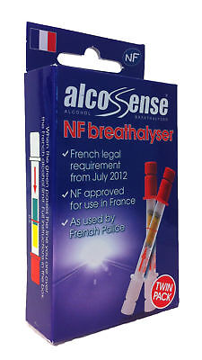 Alcosense NF Singles Alcohol Breathalyser Tester - Twin Pack France Legal French