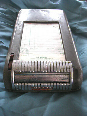 Vintage MOORE Industrial Register Receipt Dispenser Machine w/ Co-op Invoices