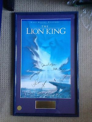Lion King Autographed Limited Edition Poster