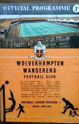 Wolves V Vorwarts 7/10/1959 European Cup