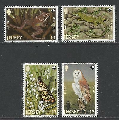 Jersey 1989 World Wildlife Fund--Attractive Animal Topical (507-10) MNH