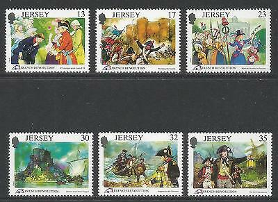 Jersey 1989 French Revolution 200th Anniversary--Attractive Topical (516-21) MNH