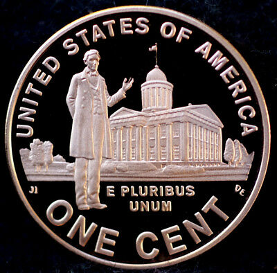 "2009-S ""Professional"" Proof Lincoln Memorial Cent Penny Deep Cameo, FREE SHIP!"