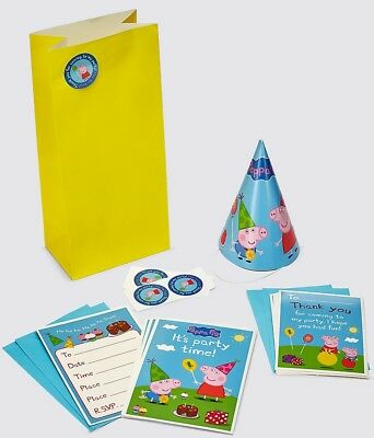 BNIP New Marks Spencer M&S Kids Peppa & George Pig Party Kit - For Party of 10