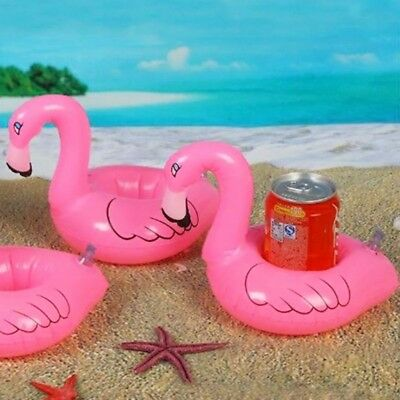 Inflatable Flamingo Drink Can Cell Phone Holder Stand Coasters Float Pool Toy