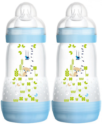 MAM Babyartikel 99921511 - Kit biberon (2 unidades), color azul, 260 ml