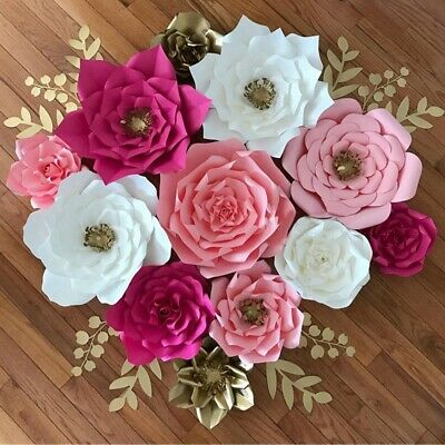 DIY 20cm Paper Flower Backdrop Hen Party Kid Birthday Wedding Home Room Decor