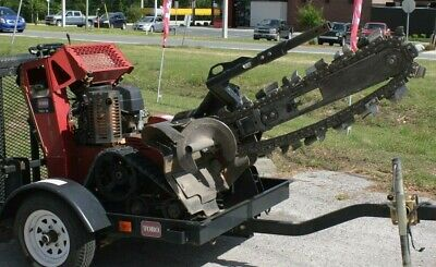 "TRX-16 24"" Walk Behind Trencher With Trailer"