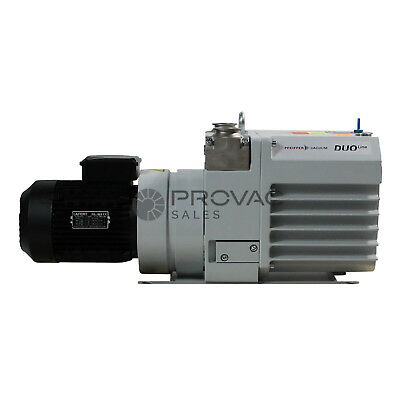Pfeiffer DUO 35MC Vane Pump With Inlet & Exhaust Filters, Rebuilt By Provac Sale