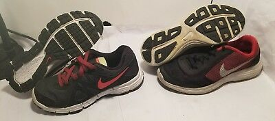 Boys sz 4.5y and Size 6y Nike Sneaker SHOE LOT NIKE AIR - Revolution 2 & 3 -