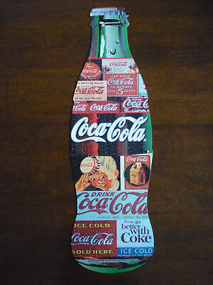 "Coca-Cola Bottle Shaped Jigsaw Puzzle 11"" x 36"" in Square Tin Complete"