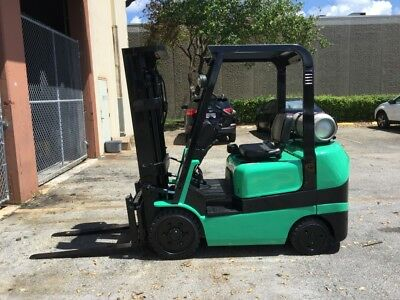 Refurbished 2004 Mitsubishi 5000 LBS 3 Stage Sideshift Forklift ONLY 8600 hours