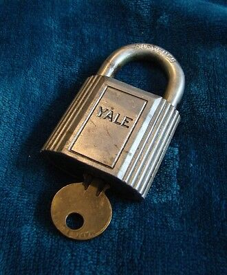 Vintage Padlock Lock With Key Yale Hardened