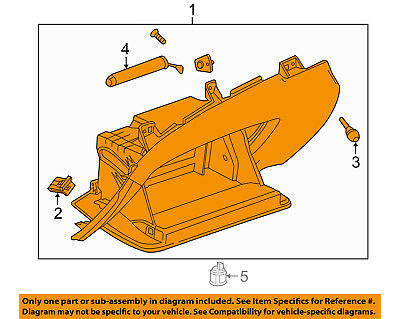GM OEM-Glove Compartment Box Assy 22883560