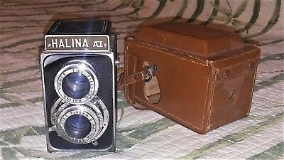 Halina AI Camera box style with leather case