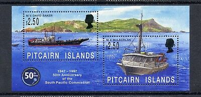 PITCAIRN ISLAND   MNH   464   South Pacific Commission S/S   Boats     FT883