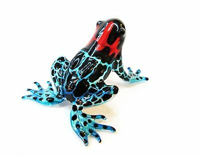 Lampwork COLLECTIBLE MINIATURE HAND BLOWN Art GLASS New Magic Frog FIGURINE b...