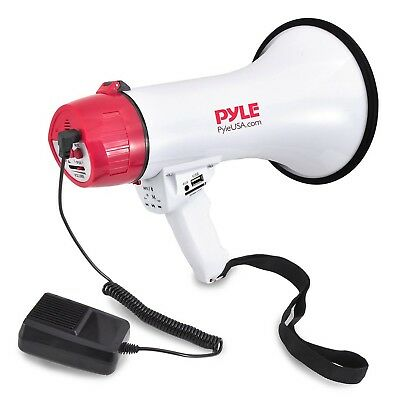 Pyle Bluetooth Megaphone [PA Megaphone Speaker with Wired Microphone] Siren A...