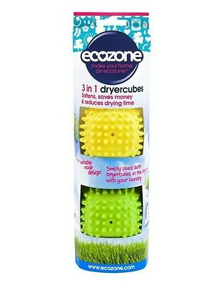 NEW OFFER Ecozone 3 in 1 laundry cubes, X 2 PACKS soften and dry quicker WOW !