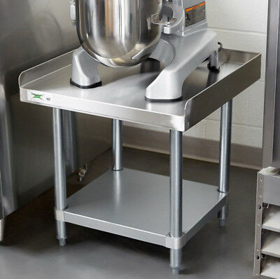 "24"" x 24"" Stainless Steel Table Commercial Heavy Equipment Mixer Stand 16 Gauge"
