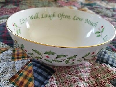 """LENOX ~~ HOLIDAY/CHRISTMAS COLLECTION ~~ 9"""" SERVING BOWL ~~ FREE SHIPPING in USA"""