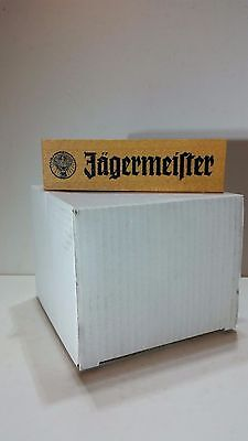 """Jagermeister Mobile Wood table sign holder collectors item 1.25"""" x 1.25"""" x 4.5"""""""