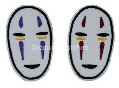 NO FACE Spirited Away Embroidered Sew Iron On Patch Badge Bag Hat Applique DIY