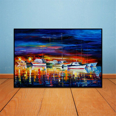 Frameless Huge Wall Art Oil Painting On Canvas Cruise Ship Home Decor