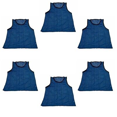Workoutz Adult Scrimmage Vests Blue (6 Qty) Soccer Pinnies Mesh Shirt Lacrosse