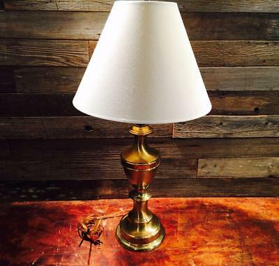 Vintage Brass Coated Trophy Lamps Flame Top Hollywood Regency Neoclassical