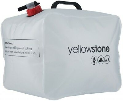 15 Litre Pack Away Water Carrier - Polyethylene bag with PP Handle White