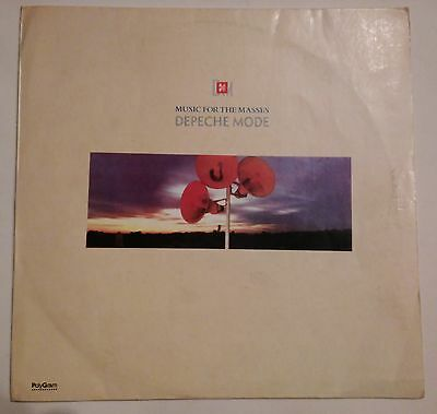 "Depeche Mode -Music For The Masses LP 12"" Argentina Rare, G/G diff art on back"
