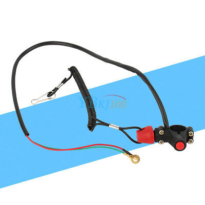 1x General Outboard Engine Motor ATV Kill Stop Switch & Safety Tether Lanyard SP