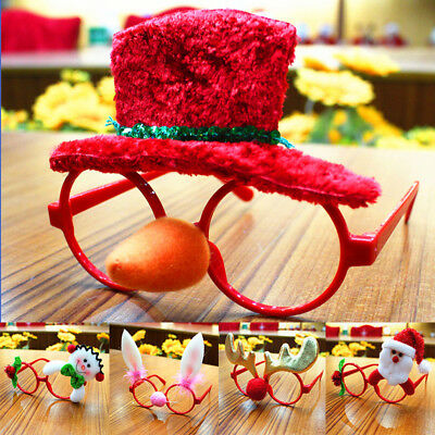 Christmas Snata Snowman Glasses Frame Xmas Party Costume Novelty Fancy Dress