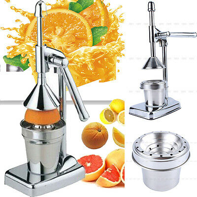 US Manual Press Orange Citrus Juicer Juice Extractor Stainless Steel Tool Home