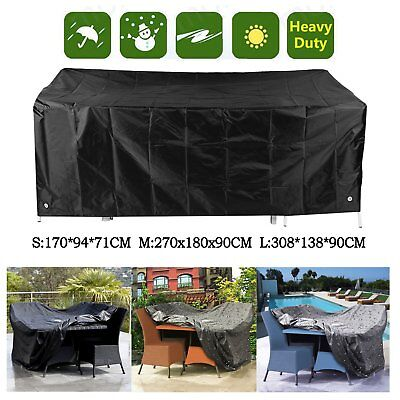 Waterproof Outdoor Garden Furniture Table Chair Rain Cover Dust Cover Protector^