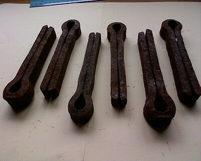 6 x railway sleeper dog pegs spikes nail Locomotive train carpenter blacksmith