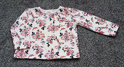 baby girls Peacock's pink floral top, age 12-18 months.