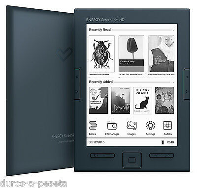 Libro Electronico Energy eReader ScreenLight HD + Home Charger + Extra Battery