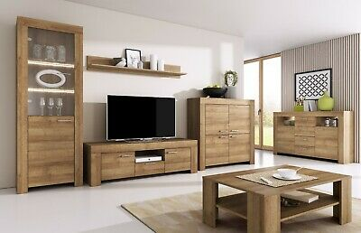 TV Wall Unit SKY New Modern Set of Living room Furniture Oak Riviera /SKY/