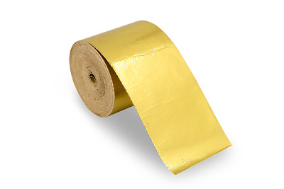 Funk Motorsport Gold Heat intake Reflective insulation wrap tape induction Gold
