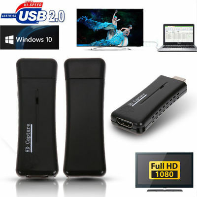 Mini Portable USB 2.0 Port HD 1 Way HDMI 1080P Video Capture Card for PC UK