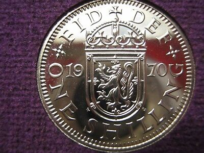 1970 Proof British pre decimal Scottish Shilling coin