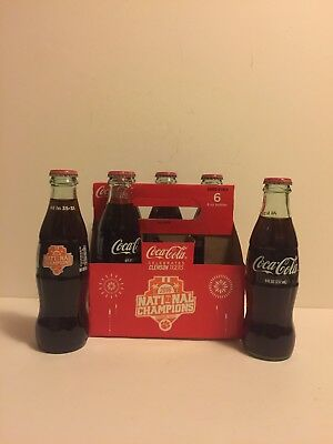 Coca Cola Clemson Tigers 2016 National Championship Coke Bottles 8 oz 6 pack