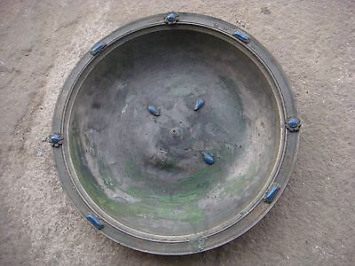 Rrr Rare Antique Ottoman Turkish Tinned Copper Tugra Plate - Marked