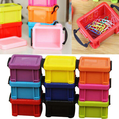 Mini Plastic Storage Buckle Box Case Container Organizer W/Lid Container