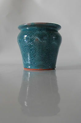 Terracotta Vase with Blue Turquoise Glaze By Australian Artist Travis Collins