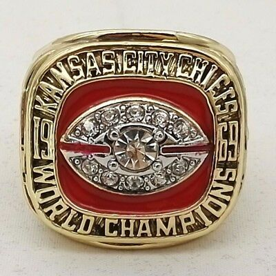 1969 Kansas City Chiefs World Championship Ring US size 9-13 Collection fan