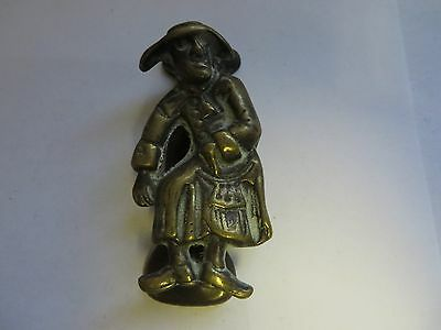 """Man with long coat and hat"" Brass Antique English Door Knocker"